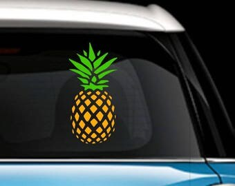 Pineapple Decal - Pineapple Car Decal
