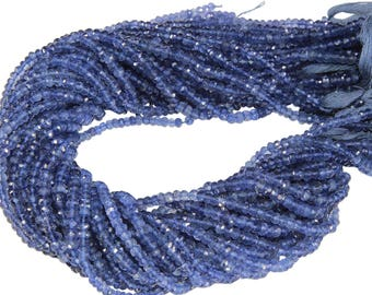 14 1/2 IN Strand 4-4.5 mm Iolite Rondelle Faceted Gemstone Beads (IL100111)