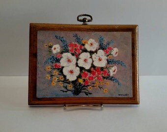 Vintage Oil Floral painting (signed McElrath)