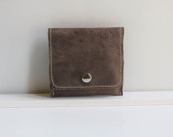 Small Wallet for Women Taupe, Taupe Leather Wallet for Women, Small Womens Wallet