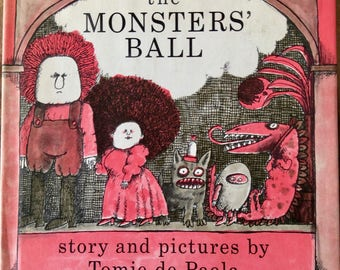 The Monsters' Ball, Written/Illustrated Tomie de Paola, First edition Signed, 1970, Rare Children's Book, Hardcover/Dust Jacket