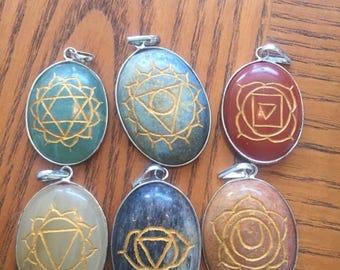 Chakra necklace pendants
