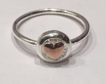 Love Heart Ring - Rose Gold