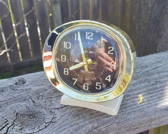 Vintage Westclox Baby Ben Wind Up Alarm Clock Luminescent Dial USA