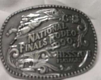 National Finals Rodeo 1990 Hesston Fiatagri Belt Buckle