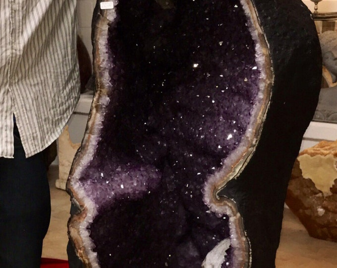 1200LBS Amethyst Cathedral 56 inches tall Museum Grade from Uruguay Home Decor \ Amethyst Geode \ Druzy \ Raw Amethyst \ Amethyst Crystal