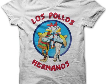 Los Pollos Hermanos Breaking Bad Mens Funny Slogan T Shirt Tee S-5xl New