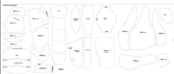 Deathstroke v1 costume cosplay foam templates from for Deathstroke armor template