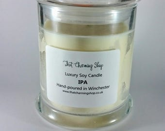 SALE - Beer Candle - IPA Candle - Ale Scented Candle - Beer Scented Candle - Craft Beer Candle - Beer Soy Candle - End of Line - Candle Sale