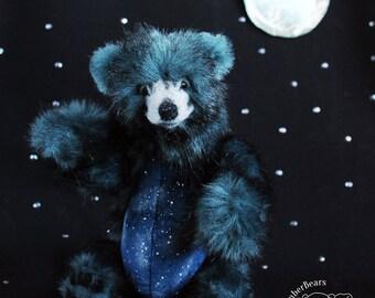 RESERVED Artist bear Teddy Bear OOAK bear Evening Bear