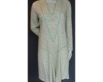 Vintage 1920s/20s Cotton Floral Day DRESS Summer Flapper
