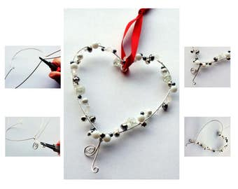 DIY wire heart craft kit for adults – Make this beautiful beaded wire heart!