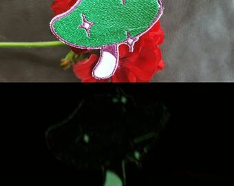Mushroom Samba #1 Glow-in-the-Dark Embroidered Patches