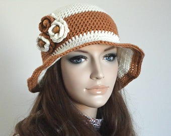 Crochet Hat Summer Hat Floral Hat Women Accessories Brim Hat Girls Summer Hat Beach Visor Hat Sun Hat Beach Accessories Weekend Photo Prop