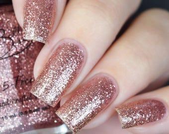 """Pinky Promise"""" Light Pink Glitter Polish - Full size 15ml Bottle."""