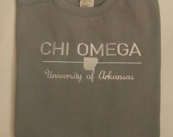 Custom Sorority Sweatshirt, Chi Omega Sweatshirt,  Sorority Sweatshirt, Sorority, Monogrammed Sweatshirt, Personalized Sweatshirt