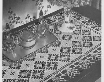 Clover Path Vintage Table Runner Crochet Pattern