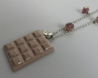 Resin necklace chocolate # 3