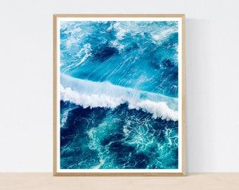 Ocean Print, Ocean Wall Art, Sea Wall Art, Large Poster, Ocean Photography, Ocean Wave, Nature print, Blue wall art, Ocean poster, Seascape