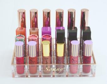 Rose Gold 24 Slot Lipstick Organizer