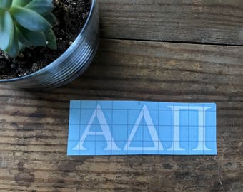 Alpha Delta Pi Vinyl Sticker