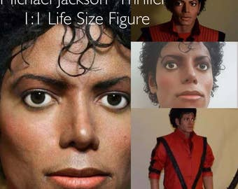 Michael Jackson 1:1 SALE Life Size Prop Figure MJ Replica King Of Pop Thriller