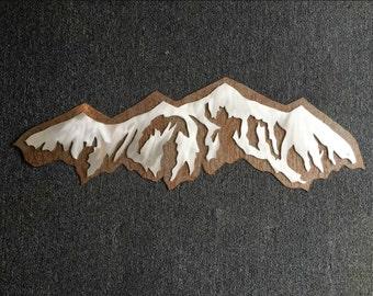 Snowboarding Art, Ski Artwork, Cabin Decor, Mountain Ranges, Lodge Wall Art,