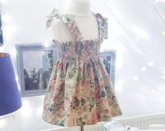 Vintage Shirred Dress