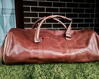 Weekend / travel bag (Handmade Genuine Leather )