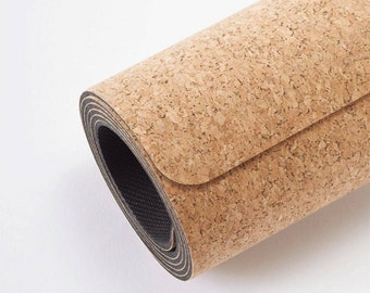 eco friendly cork yoga mat for exceptional grip + strap - perfect for all yoga fanatics, hot yoga goers, pilates + meditation lovers