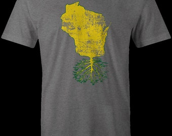 Wisconsin Roots t-shirt, Wisconsin shirt, Wisconsin Badgers, Green Bay Packers