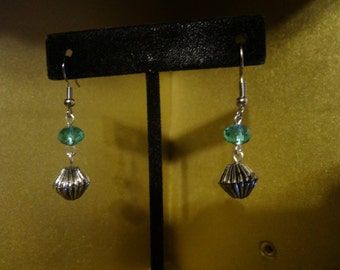 Sky Blue crystals with a silver rhombus