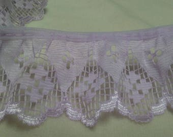"LILAC LACE,2yd x 2""wide, Luminescent edge,Vintage lace,edging,trim"