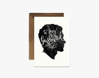 To my husband Card + Kraft Envelopes Silhouette Card --- S008