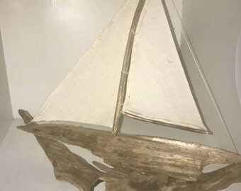 Driftwood Sailboat-Found Objects-Local Artist Washington State