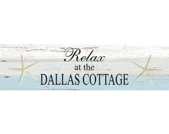 Personalized Cottage Sign- Personalized Wall Sign