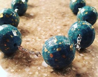 Globe bead statement necklace