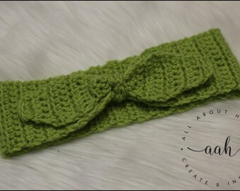 Millie Retro Tie Headband in Lime Green