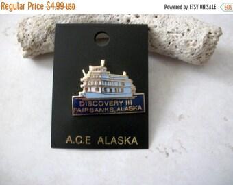 ON SALE Vintage Fairbanks Alaska Enamel Stick Pin 103016