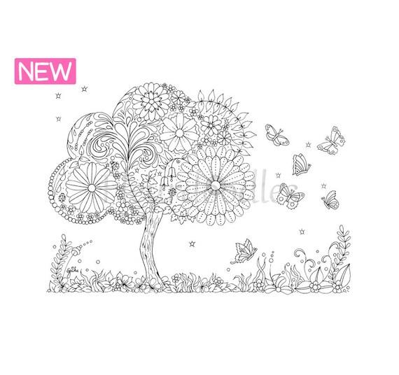 doodle tree 3 malseite für erwachsene ausmalbilder zum