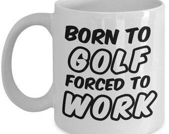 Funny Golf Mug - Golfer's Coffee Cup - Golf Mug Gift // By Mark Bernard - sketchnkustom!