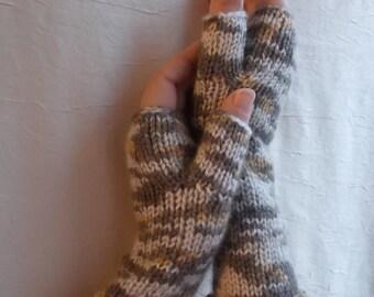 Knit Fingerless Gloves, Fingerless Gloves, warm gloves, knitted gloves, handmade gloves, fingerless mitts,  Arm Warmers
