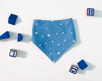 Blue Stars Bandana Bib // Drool Bib // Made in Canada