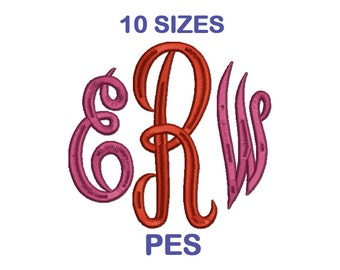 Empire Monogram Embroidery Font Set - 10 Sizes - PES Format Embroidery Alphabet - Embroidery Letters - Machine Embroidery Designs Patterns