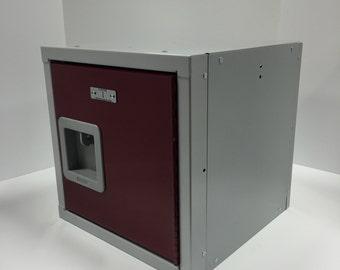 """ULocker 15""""x15""""x15"""" Gray and Maroon Locker Cube"""