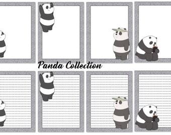 Panda Writing Paper Digital Printable