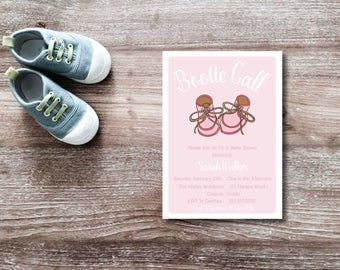 Bootie Call DIY Printable Baby Shower Invitation