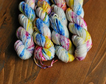 Speckled Eggs MINI SKEIN, Hand Dyed Yarn, SW Sock