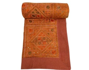 Hand Embroidery Mirrorwork Bedspreads,Bedcover,designer bedspreads,Gypsy bedding