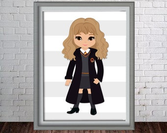 Printable Harry Potter Hermione Wall Art Print - 16x20, 8x10 and 11x14 Harry Potter Hermione- Instant Download - Can Customize